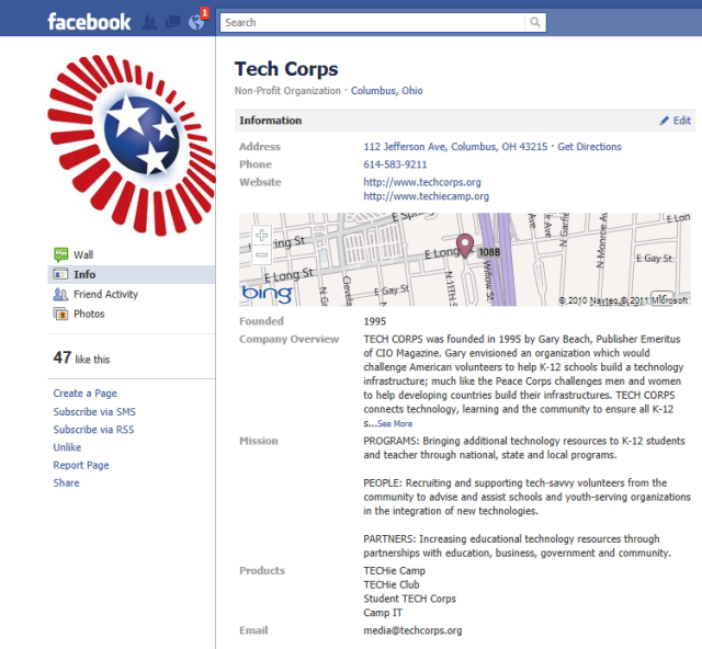 TechCorps national fan page