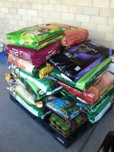 A sample of our recently donated pet food!