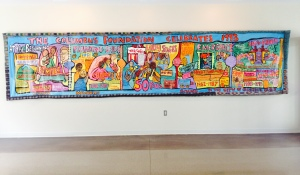 A beautiful mural in the Carriage House of the Columbus Foundation
