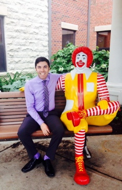 Ronald and I outside the house!