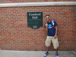 Oh you know, just chilling in front of Crawford Hall!