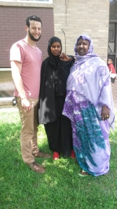 Here I am standing next to Fadumo's sister-in-law Hawo and next to her is the  legend herself, Fadumo