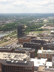 View from the top floor of Nationwide!