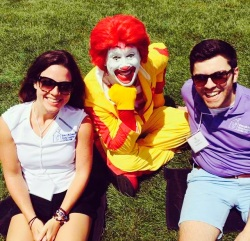 Jillian and I with Ronald McDonald!