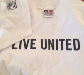 """""""Live United"""" shirt given to me by a staff member of UnitedWay of Central Ohio."""