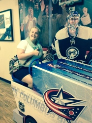 My BFF Mel on the RMHC Zamboni!