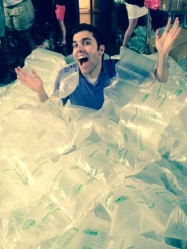 I jumped into a pile of Packing Bubbles