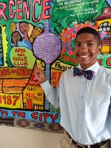The Boys and Girls Clubs spot on the mural at the Columbus Foundation!
