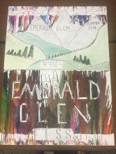 Art from Emerald Glen, a site that is located within Homeport Apartments.