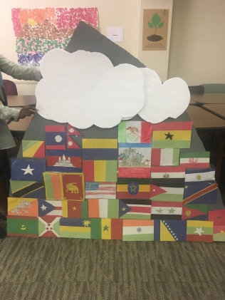 Art from ETSS's North 2 site located at Columbus Global Academy. All the flags represent the nationalities of people ETSS serves.